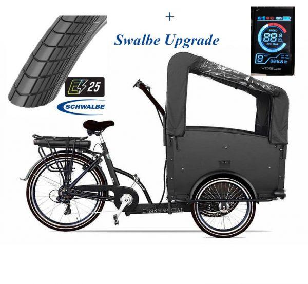 troy-bakfiets Elektrisch Swalbe upgrade-7speed-zwart-driewieler-481wh