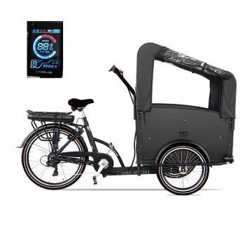 troy-elektrische-bakfiets-7speed-kleuren display zwart-driewieler-481wh