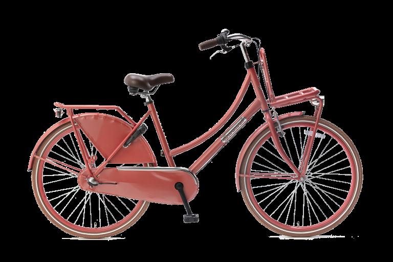 Popal Meisjesfiets 26 inch daily dutch 26 inch N3 Meisjesfiets Transportfiets 26 inch met versnellingen Flamingo