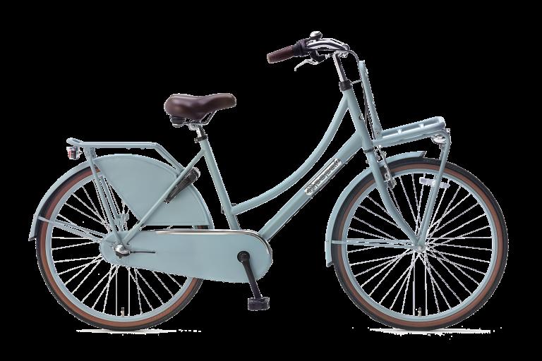 Popal Meisjesfiets 26 inch daily dutch 26 inch N3 Meisjesfiets Transportfiets 26 inch met versnellingen mat blauw