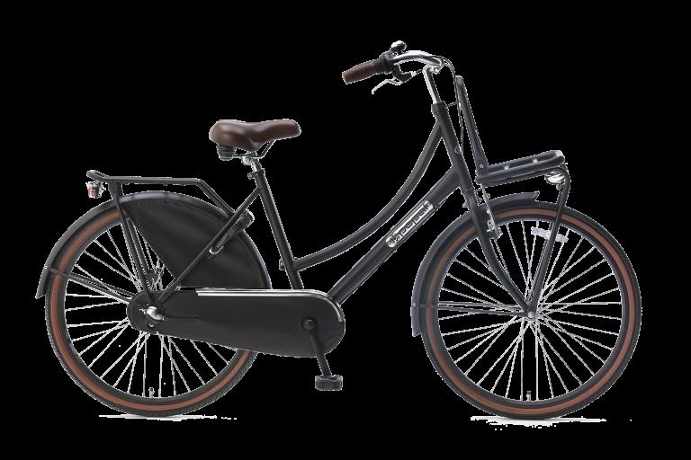 Popal Meisjesfiets 26 inch daily dutch 26 inch N3 Meisjesfiets Transportfiets 26 inch met versnellingen mat-zwart