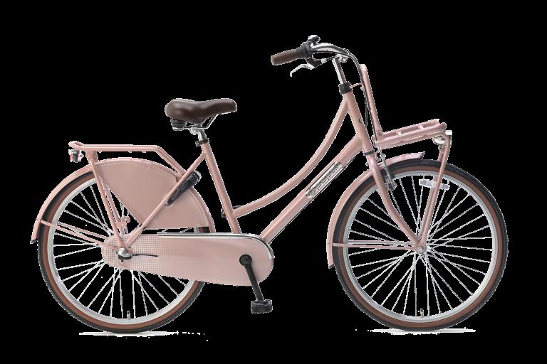 Popal meisjesfiets 26 inch daily dutch 26 inch N3 Meisjesfiets Transportfiets 26 inch met versnellingen zalm Roze