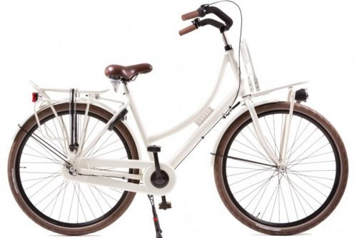 avalon cargo dames transportfiets ivoor wit
