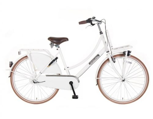 Meisjes Transportfiets Popal-Daily-Dutch-N3-Basic-Plus-24/26-inch-wit