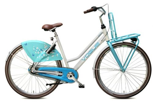 Vogue paris dames transportfiets wit blauw