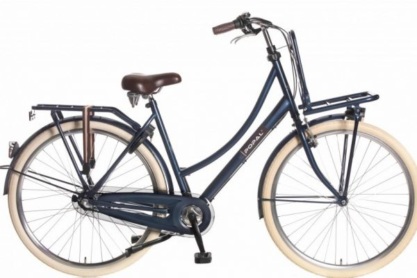 popal county roll plus damesfiets jeans blauw
