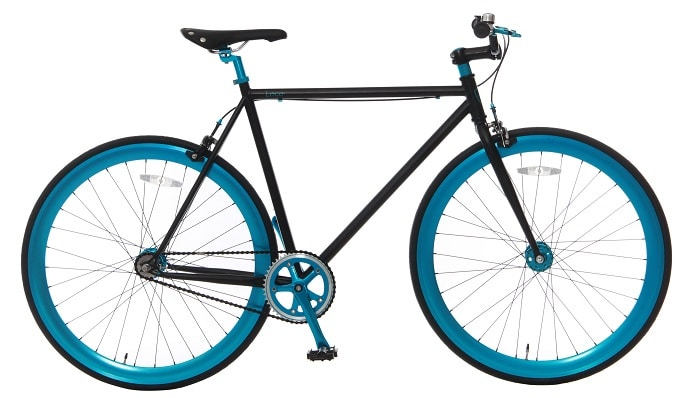 Vogue Loco Fixed Gear 28 inch Mat-zwart Blue
