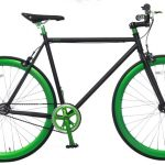 Vogue Loco Fixed Gear 28 inch Mat-zwart Green