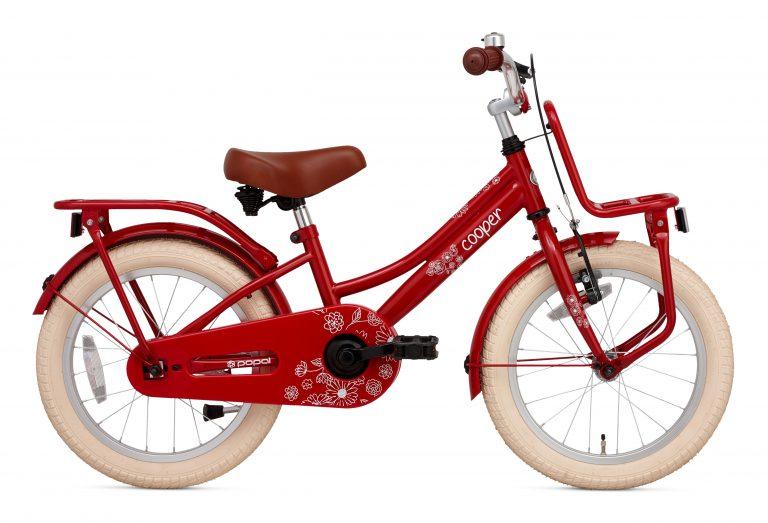 Popal Cooper 18 inch meisjesfiets rood