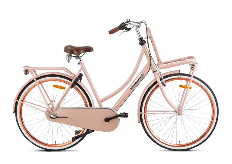 Popal Daily Dutch Basic plus 28 inch damesfiets transportfiets zalm roze