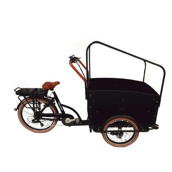 Velora Bakfiets 6 sp E-Bike mat-zwart-bruin